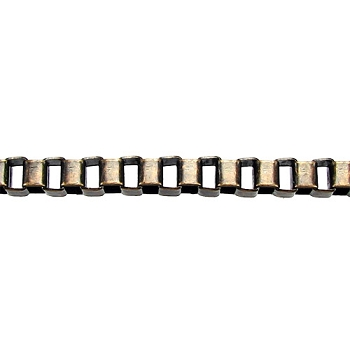 4mm BOX chain  ANT. BRASS