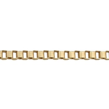 4mm BOX chain MATTE GOLD per foot