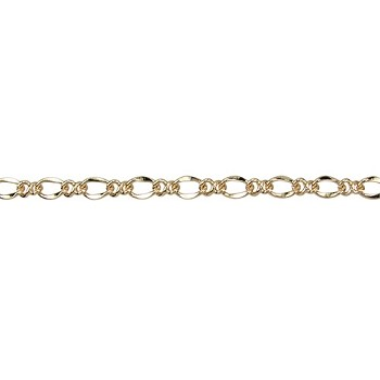 twisted figaro chain GOLD - per foot