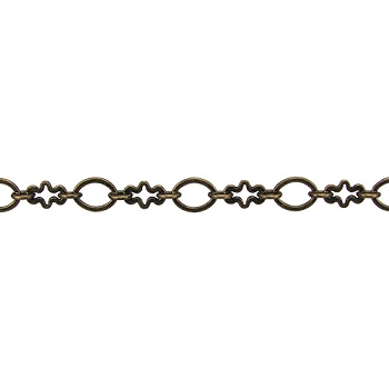 circle/cross chain ANT. BRASS - per foot