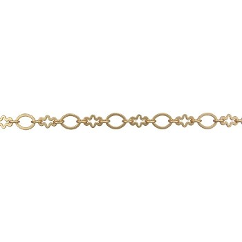 circle/cross chain MATTE GOLD per foot