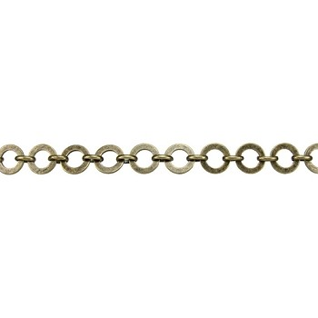 Washer Circle Chain - Antique Brass