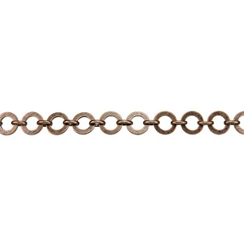 Washer Circle Chain - Antique Copper