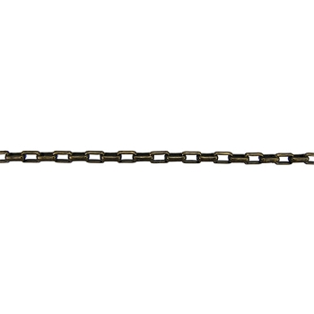 Rectangle Rolo Chain 2mm - Antique Brass - per foot