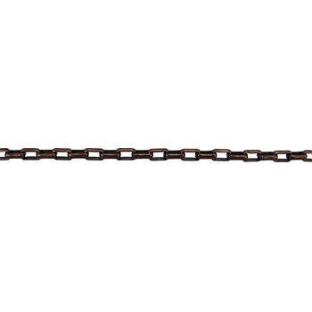 Rectangle Rolo Chain 2mm - Antique Copper