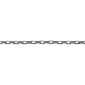 Rectangle Rolo Chain 2mm - Antique Silver - per foot