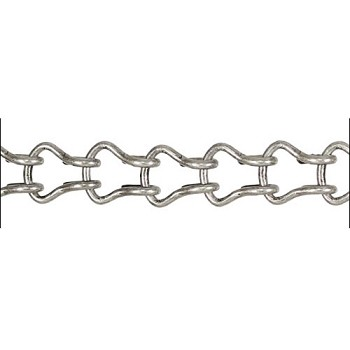 Ladder Chain ANT. SILVER - per foot
