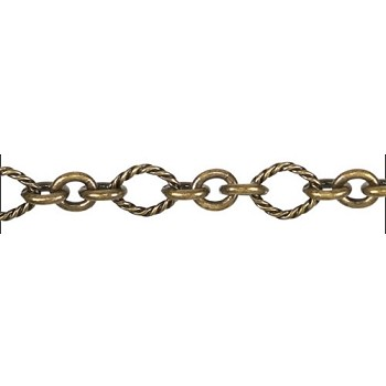 3:1 Nautical Chain ANT. BRASS - per foot