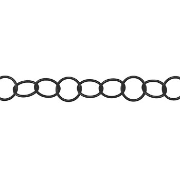 Large Circle Chain - Nite Black - per foot