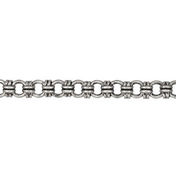 Cross-Stitch chain ANT SILVER - per 1 foot