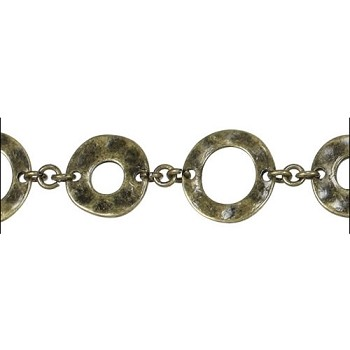 Donut chain ANT BRASS - per foot