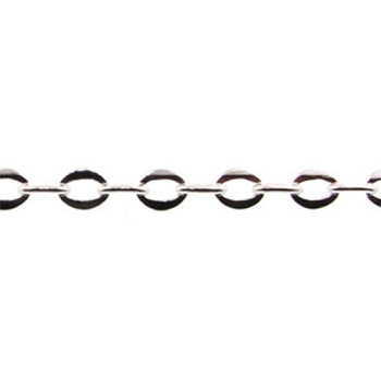 Oval Link Chain - Silver Plate - per foot