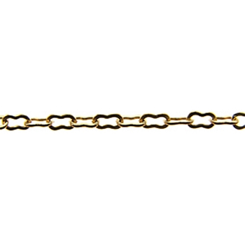 Peanut Chain - Matte Gold - per foot