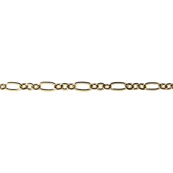 Figaro Fine Chain - Gold - per foot