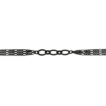 Figaro Triple Strand Chain - Nite Black - per foot