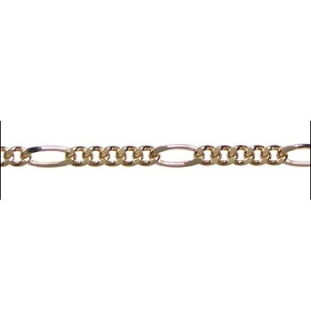 figaro chain (5:1) GOLD per foot