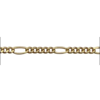 figaro chain (5:1) MATTE GOLD per foot