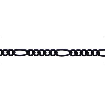 figaro chain (5:1) NITE BLACK per foot