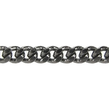 flattened curb 3mm chain  GUNMETAL per foot