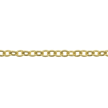 Small Cable Chain - Matte Gold