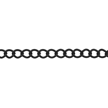 Small Curb Chain - Nite Black - per foot