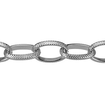 gothic chain RHODIUM per foot