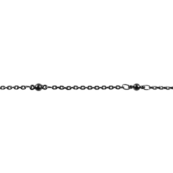 Fine Ball & Chain - Gunmetal - per foot