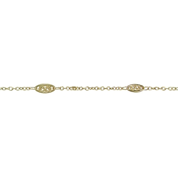 Fine Filigree Chain - Gold - per foot