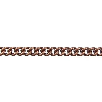 fine curb chain ANT. COPPER