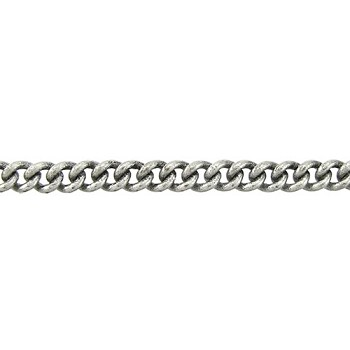 fine curb chain ANT. SILVER per foot