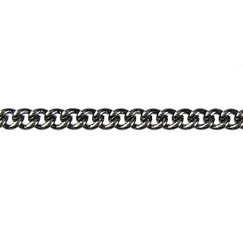 fine curb chain GUNMETAL per foot