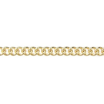 fine curb chain GOLD PLATE per foot
