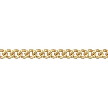 fine curb chain MATTE GOLD per foot