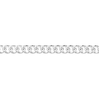 fine curb chain SILVER PLATE per 50 Foot Spool