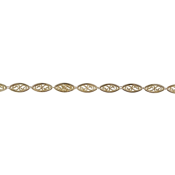 Large Filigree chain GOLD - per foot