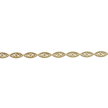Large Filigree chain MATTE GOLD