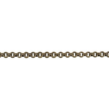 Double Link chain ANTIQUE BRASS - per foot