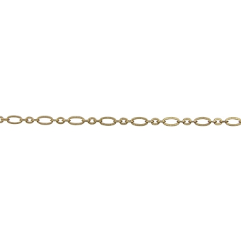 Small Etched Chain - Matte Gold - per foot