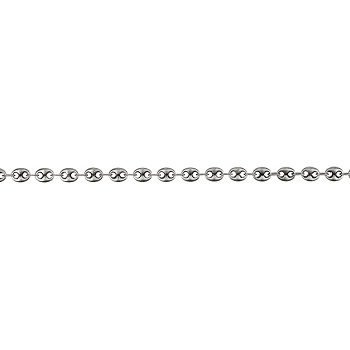 Pig Nose chain ANT SILVER per 50 Foot Spool