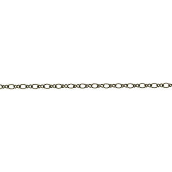 Figure 8 chain ANTIQUE BRASS