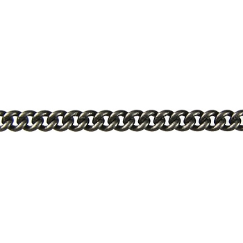 fine curb chain MATTE GUNMETAL per foot
