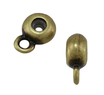 6mm Round Bead Stopper - Antique Brass