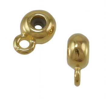6mm Round Bead Stopper - Gold