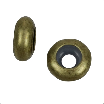 4mm Round Bead Stopper - Antique Brass