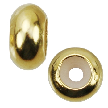 4mm Round Bead Stopper - Gold