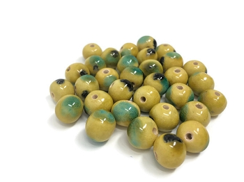 Claycult 12mm Round Ceramic Bead - Billabong
