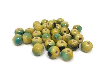 Claycult 8mm Round Ceramic Bead - Billabong