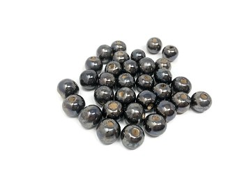 Claycult 8mm Round Ceramic Bead - Gunmetal