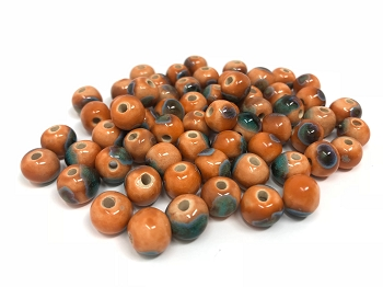Claycult 8mm Round Ceramic Bead - Ayers Rock