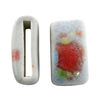 Clay River Porcelain Slider Flat 20mm Large - Confetti